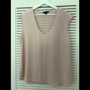 J. Crew Petal Pink Sleeveless Blouse